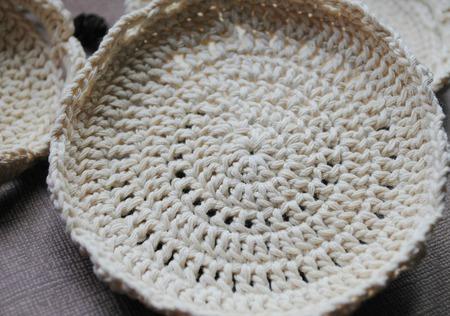 Эко-мыльница для мыла из льна Жемчужина ручной работы на заказ