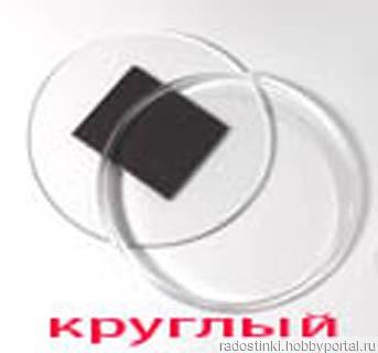 Заготовка магнит акриловый Круглый диаметр 72 мм ручной работы на заказ