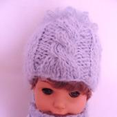 Шапка и шарф для куклы