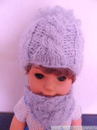 Шапка и шарф для куклы ручной работы на заказ