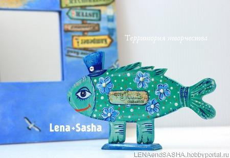 Интерьерная Фигурка Рыбка ручной работы на заказ