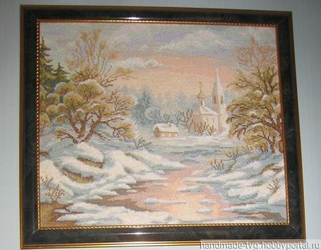 Зимний пейзаж ручной работы на заказ