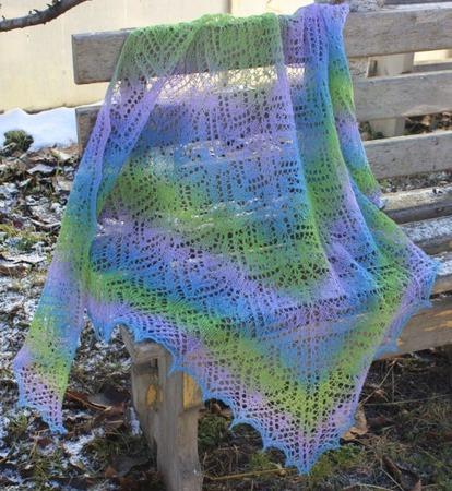 Ажурная шерстяная вязаная шаль ручной работы Букет из канн ручной работы на заказ