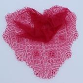 Шаль ручной работы, вязаная спицами, ажурная шаль Валентина