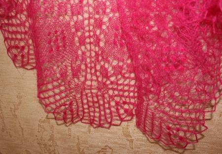 Шаль ручной работы, вязаная спицами, ажурная шаль Валентина ручной работы на заказ