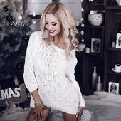 Ажурный вязаный свитер ручной вязки в Москве