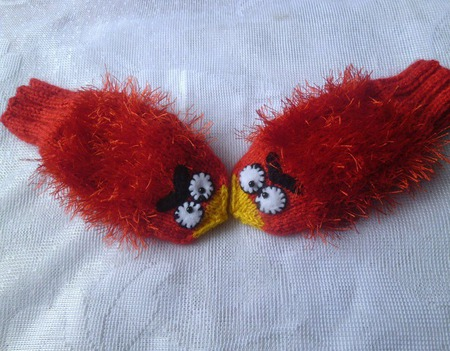 Рукавички . Angry birds ручной работы на заказ