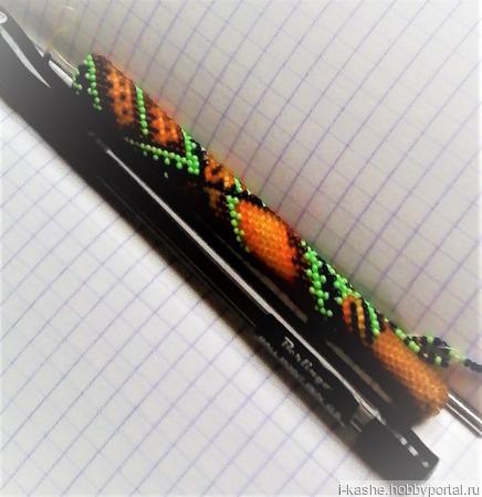 Шубка для ручки из ювелирного бисера шарлотта ручной работы на заказ