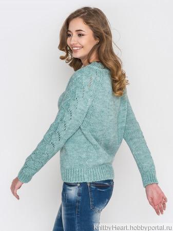 Стильный вязаный свитер ручной работы в Москве ручной работы на заказ
