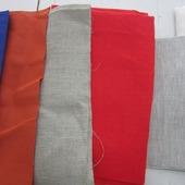 Отрезы льняной ткани