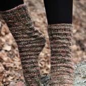 """Теплые вязаные носочки """"Поздняя осень"""""""