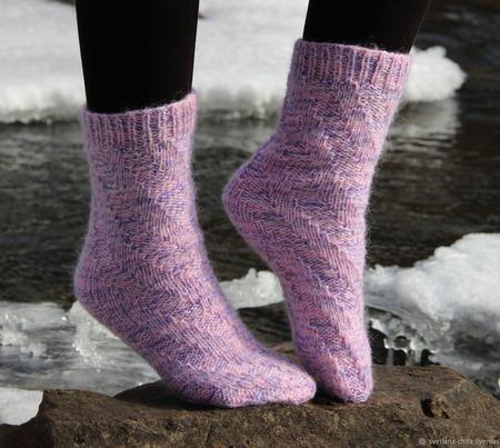 """Теплые вязаные носочки """"Поздняя осень"""" ручной работы на заказ"""