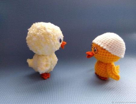Цыпленок-Цыпа. Вязаный цыпленок. Игрушка цыпленок. ручной работы на заказ