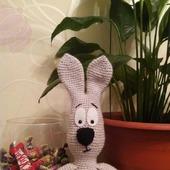 Заяц-Косой. Вязаный заяц. Зайчик.