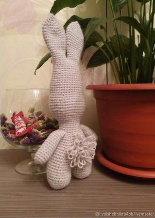 Заяц-Косой. Вязаный заяц. Зайчик. ручной работы на заказ
