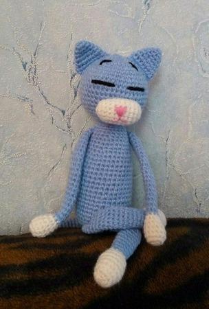 Кот-аминеко. Вязаный кот ручной работы на заказ