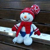Снеговичок. Вязаный снеговик