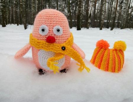 Пингвины. Вязаная игрушка Пингвин ручной работы на заказ