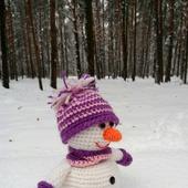 Снеговик. Вязаный снеговичок