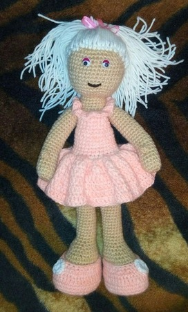 Вязаная кукла. ручной работы на заказ