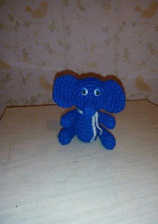 Вязаный слоник. ручной работы на заказ