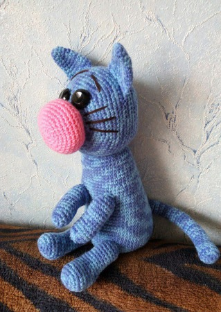 Вязаный котик. ручной работы на заказ