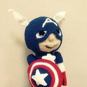 фото: Куклы и игрушки (вязаный капитан америка)