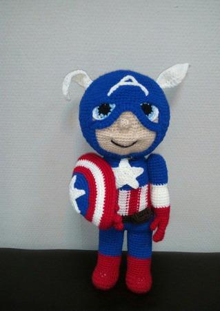 Капитан Америка. Супергерой. ручной работы на заказ