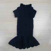 фото: Для домашних животных (вязаное платье спицами)