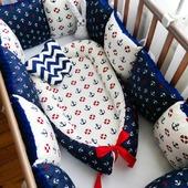 Морской комплект в кроватку для новорожденных