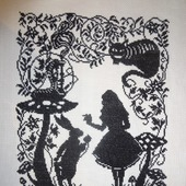 "Вышивка ""Алиса. Встреча"""