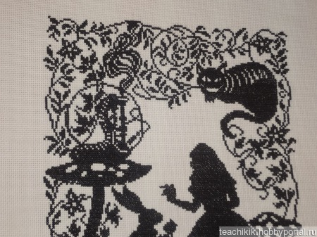 """Вышивка """"Алиса. Встреча"""" ручной работы на заказ"""