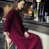 Длинное вязаное платье ручной работы в Москве