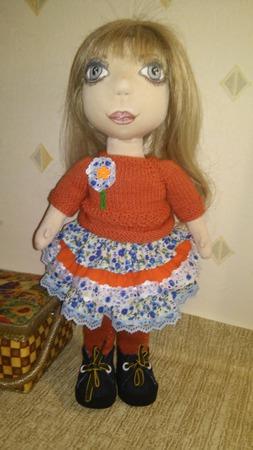 Авторская текстильная кукла ручной работы на заказ