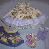 Платье нарядное, кофточка и туфельки