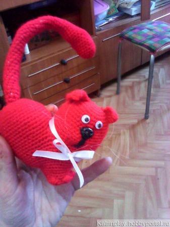 Кот- сердце ручной работы на заказ