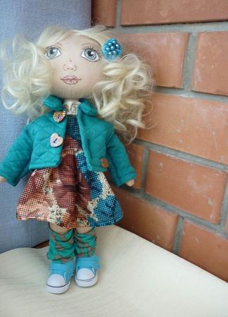 Текстильная кукла. А зовут меня Очаровашка ручной работы на заказ