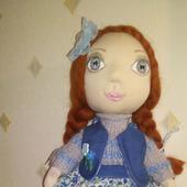 Текстильная кукла.   Нюша.  Полностью ручная работа