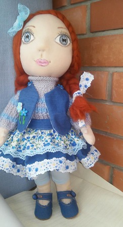 Текстильная кукла.   Нюша.  Полностью ручная работа ручной работы на заказ