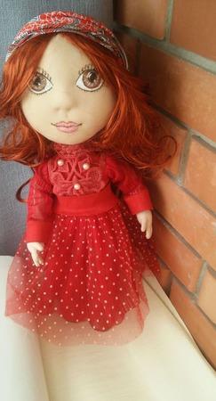 Текстильная кукла. Краса-девица... ручной работы на заказ