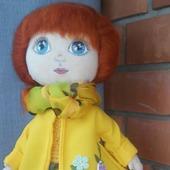 Текстильная кукла Солнечная девочка.Модница и красавица