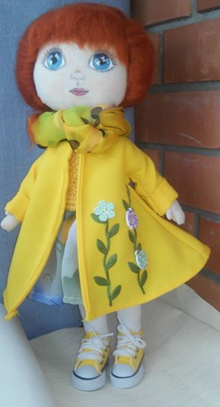 Текстильная кукла Солнечная девочка.Модница и красавица ручной работы на заказ
