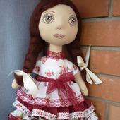 Текстильная кукла казачка Надя Полностью ручная работ.