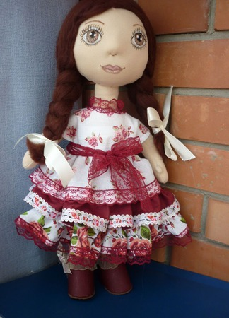 Текстильная кукла казачка Надя Полностью ручная работ. ручной работы на заказ