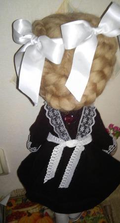 Кукла текстильная. интерьерная. Наташка первоклашка ручной работы на заказ