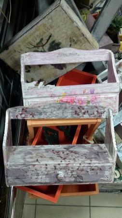 Ящик с выдвижной шуфлядкой ручной работы на заказ