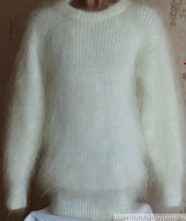 """Пуховый свитер """"Молодость"""" ручной работы на заказ"""