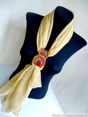 """Шейный платок-галстук """"Этно"""" ручной работы на заказ"""