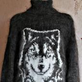 """Пуховый свитер """"Волк"""""""