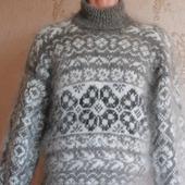 """Пуховый свитер """"Весенний цветок"""""""